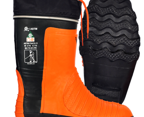 Viking Protective Water Jet Boots top and side view